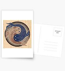 yin yang fish, shuiwudao mandala Postcards