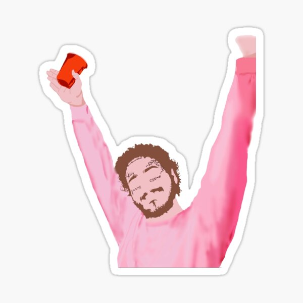 Post Malone with Red Solo Cup Sticker