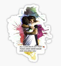 larry hug watercolor Sticker