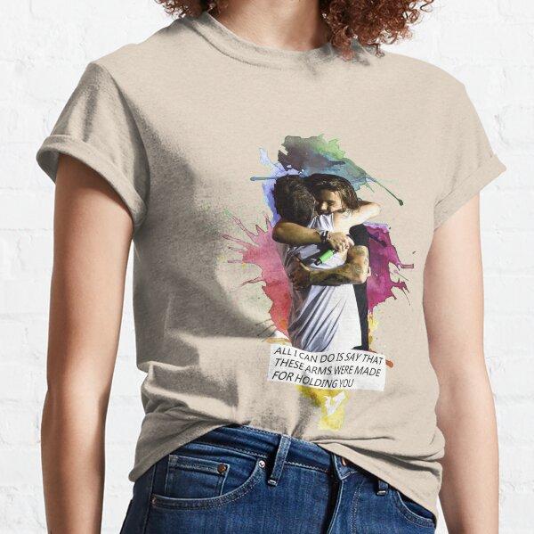 Larry abrazo acuarela Camiseta clásica