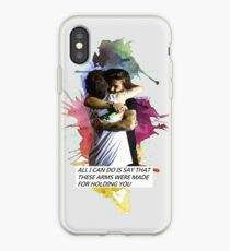 larry hug watercolor iPhone Case