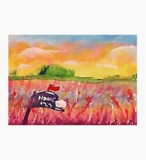 Country mail box, watercolor Photographic Print