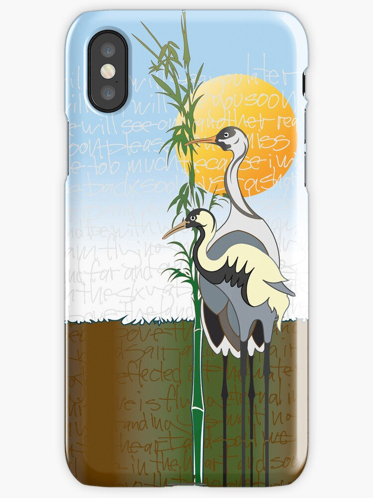 """Cranes"" iPhone Case by PONSHOP"