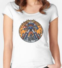 Los Robots Gigantes: It Begins Women's Fitted Scoop T-Shirt