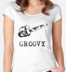 Ash vs Evil Dead - Groovy Women's Fitted Scoop T-Shirt