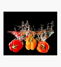 A Splash Of Peppers Photographic Print