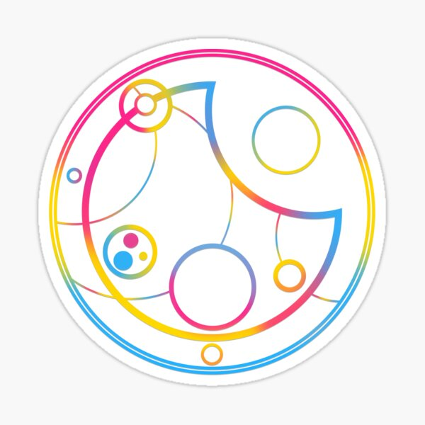 Pansexual in Circular Gallifreyan Sticker