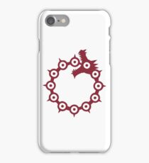 The Seven Deadly Sins - The Dragon Sin of Wrath (Red) iPhone Case/Skin