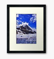 Ice Glacier in Canada Framed Print