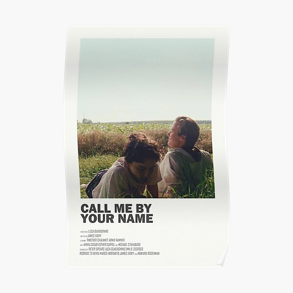 Call Me By Your Name Alternate Movie Poster Poster