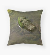 Frog April Throw Pillow