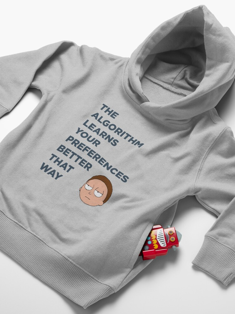 Alternate view of Morty account Toddler Pullover Hoodie