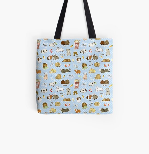 Guinea Pig Party! - Cavy Cuddles and Rodent Romance All Over Print Tote Bag