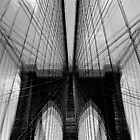 Brooklyn Bridge Wires - Abstract by Sami Wong