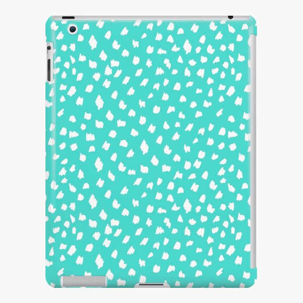 Modern Turquoise & White Dots iPad Snap Case