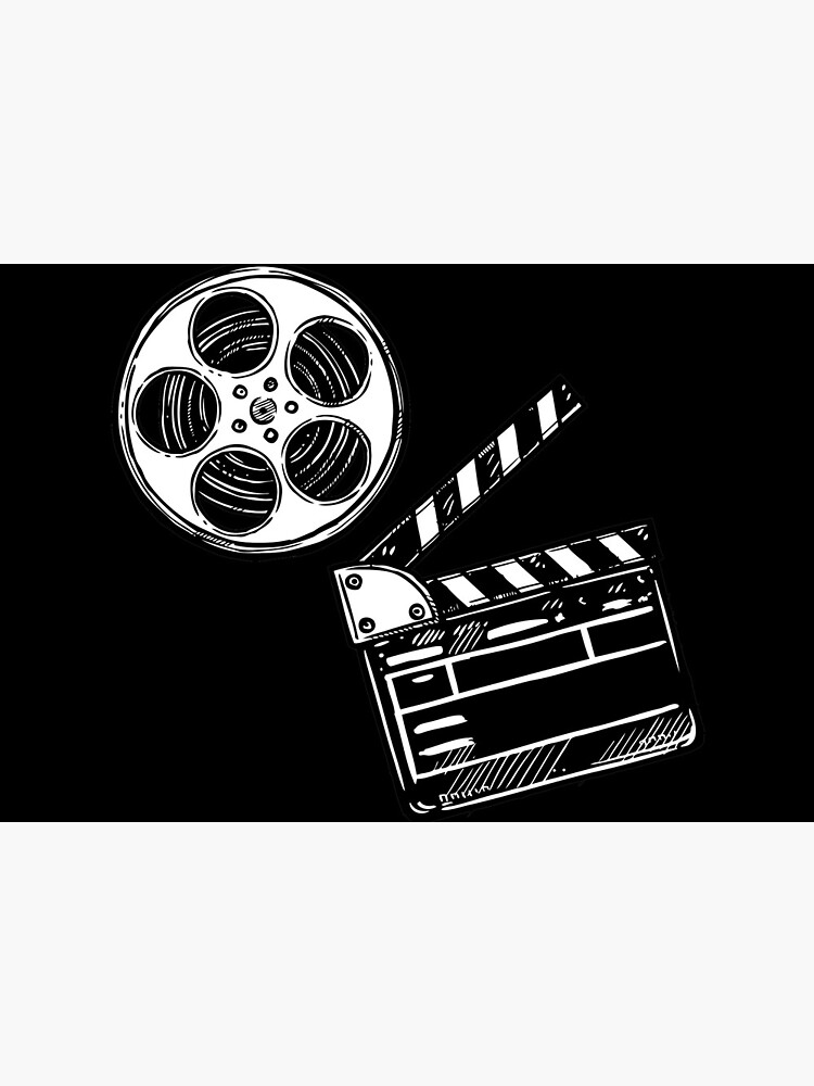 Movies, Film and Clapperboard by artdesignforyou