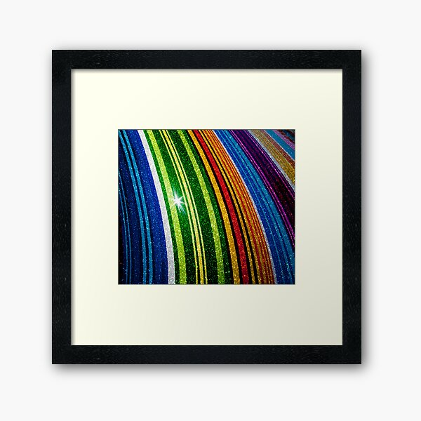 The Rings of Saturn Framed Art Print