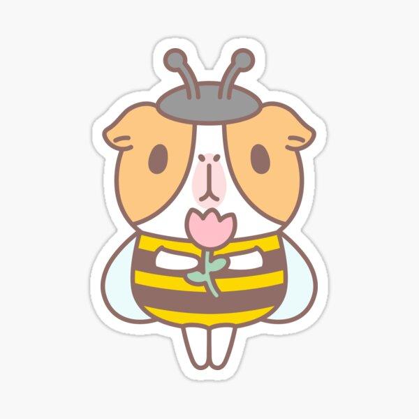 Guinea pig in Bee Costume  Sticker