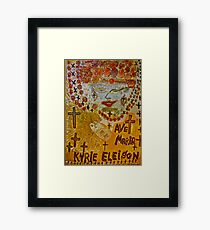 The Joyful Coptic Madonna and the Child . Hippie style. Be sure to wear flowers in your hair . God bless artists . Amen. Views: 640 *Featured Work in Painters Universe  Framed Print