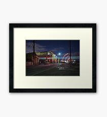 Train Passing (in the night) Framed Print