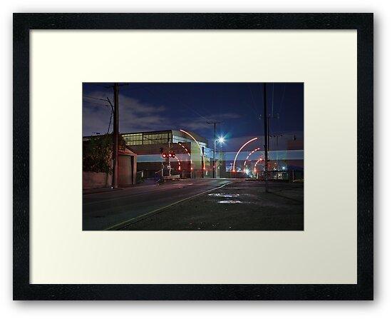 Train Passing (in the night) by Gavin Kerslake