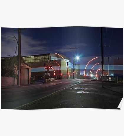Train Passing (in the night) Poster