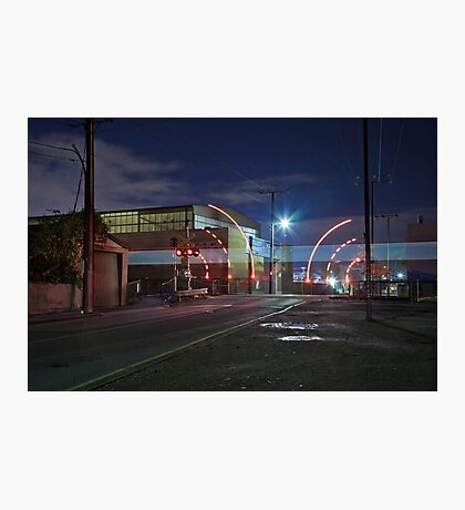 Train Passing (in the night) Photographic Print