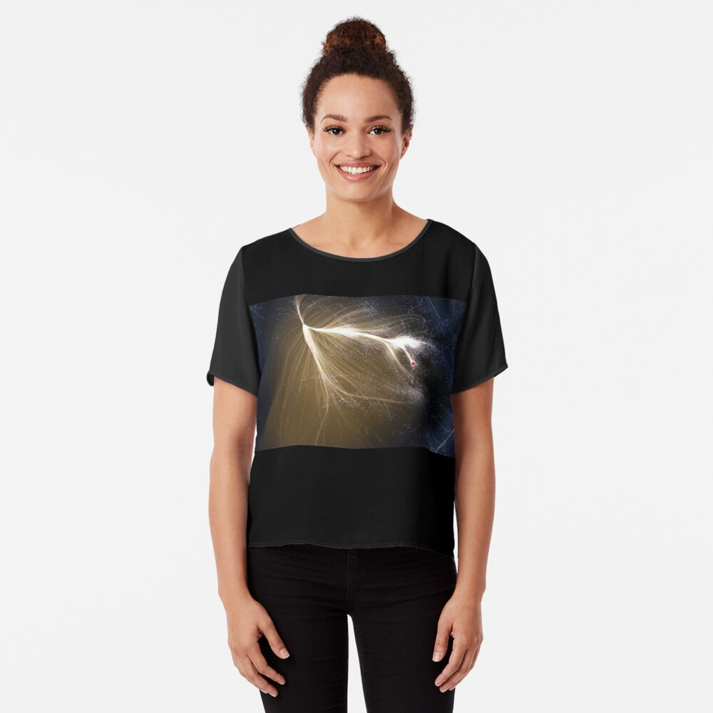 Laniakea Supercluster, Cosmology, Astrophysics, Astronomy, ssrco,chiffon_top,womens,black,front,square_three_quarter,x1000-bg,f8f8f8