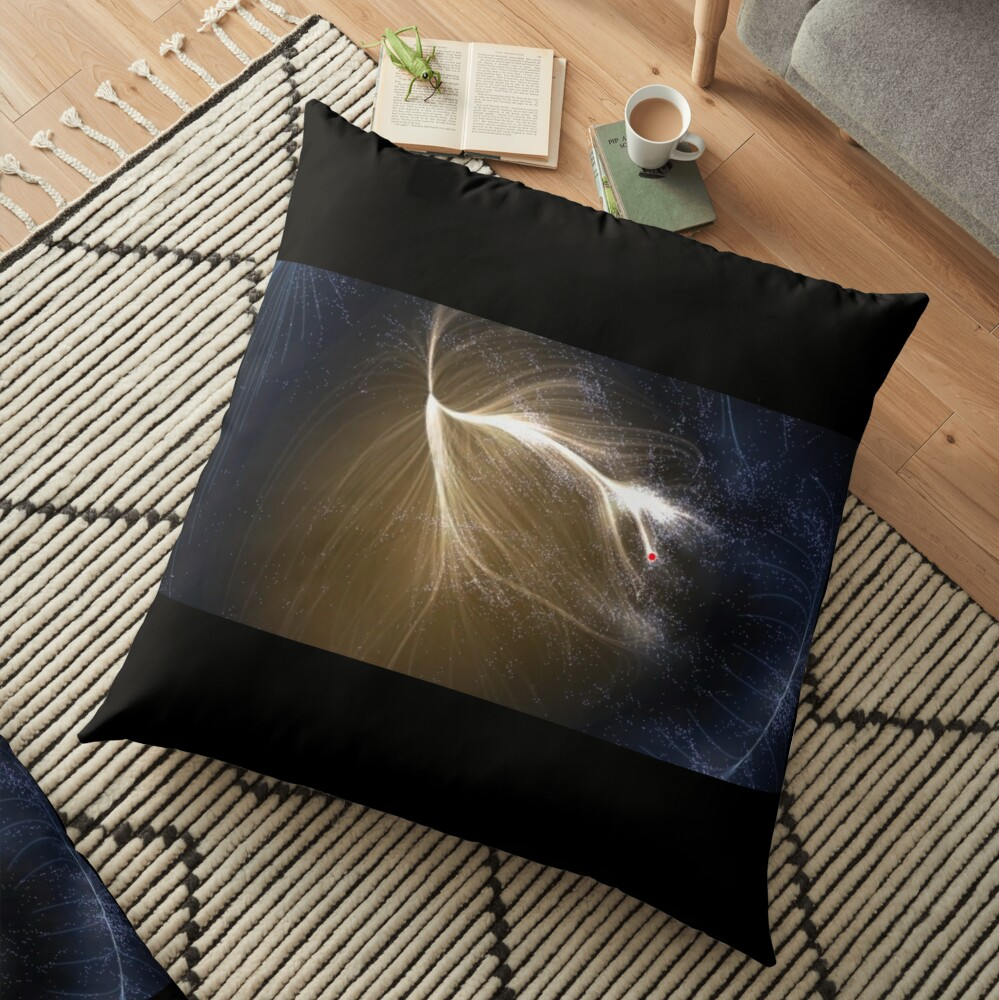 Laniakea Supercluster, Cosmology, Astrophysics, Astronomy, throwpillow,36x36,1000x-bg,f8f8f8-c,0,200,1000,1000