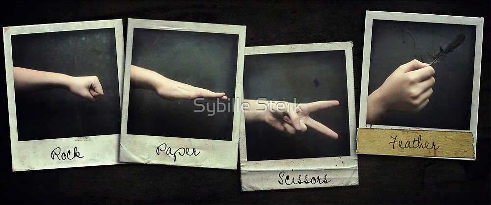 Almost Rock, Paper, Scissors by Sybille Sterk