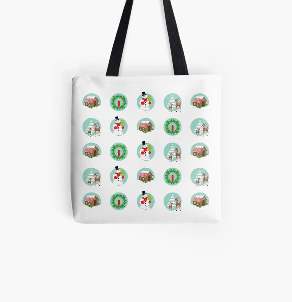 Vintage Holiday Dots All Over Print Tote Bag