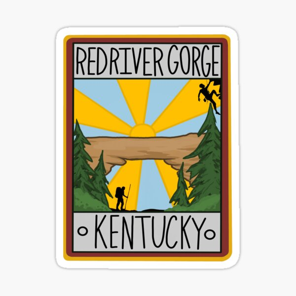 Red River Gorge Kentucky Graphic Sticker