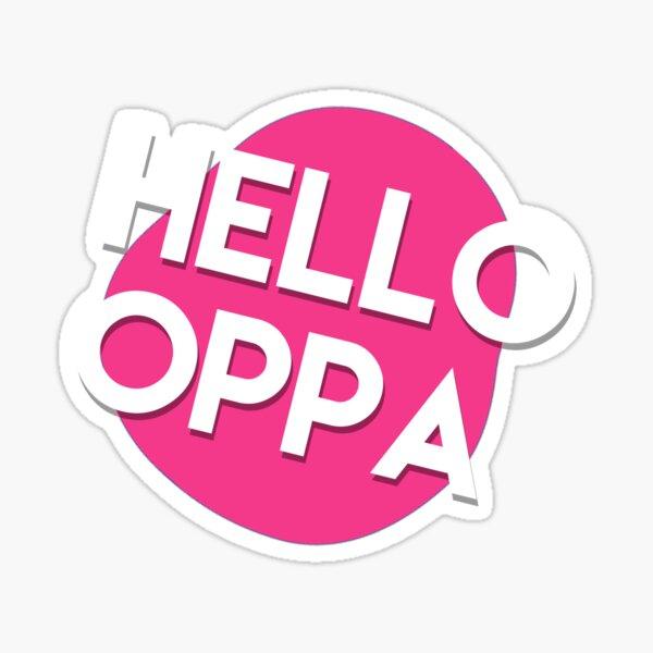 Hello oppa cute graphic Sticker
