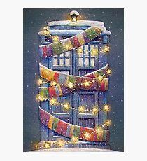 Doctor Who Christmas Tardis  Photographic Print