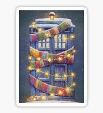 Doctor Who Christmas Tardis  Sticker