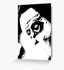 SCARY SANTA Greeting Card
