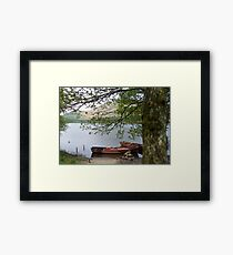 Boats on a lake in Cumbria Framed Print