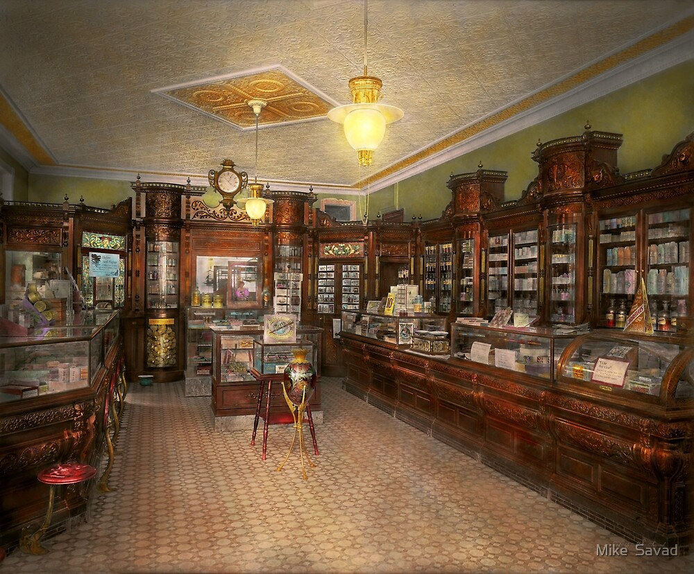 Pharmacy - Weller's Pharmacy 1915 by Michael Savad