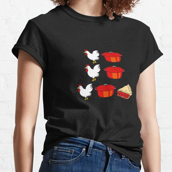 Chicken Pot Pi T-shirt Funny Math Geek Tee