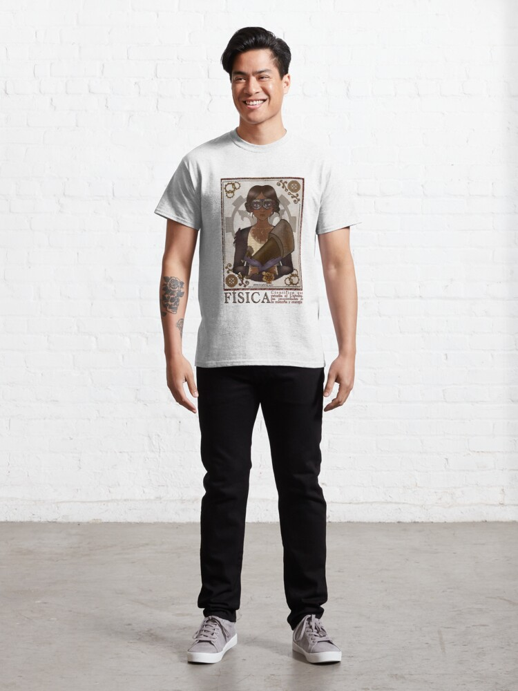 Alternate view of Fisica/Physicist (STEAMpunk Art) Classic T-Shirt