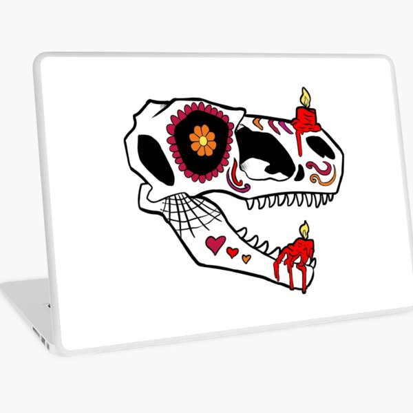 Raptor Sugar Skull Laptop Skin