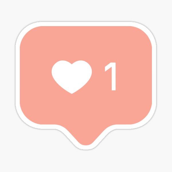 Pink Instagram Like Sticker