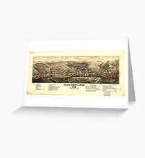 Panoramic Maps Black Hawk Colo 1882 Greeting Card