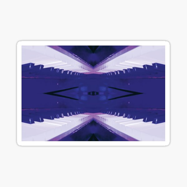 Blue Bridge to Piano Land by Jerald Simon (Music Motivation - musicmotivation.com) Sticker