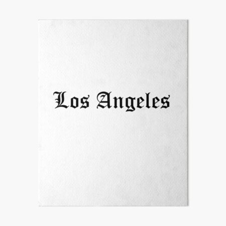 Los Angeles Art Board Print