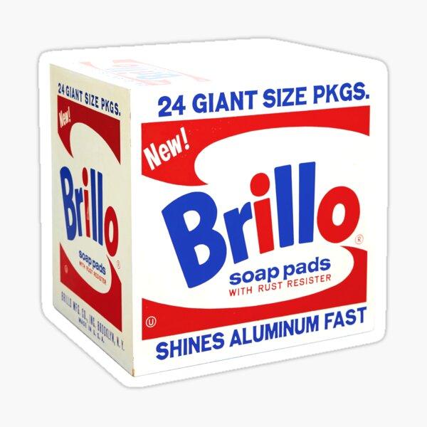 Andy Warhol Yellow Brillo Box Pop Art Sticker