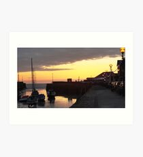 Aberaeron Harbour Sunset Art Print
