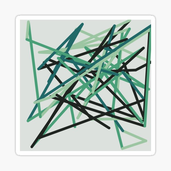 Green Zigzag Sticker