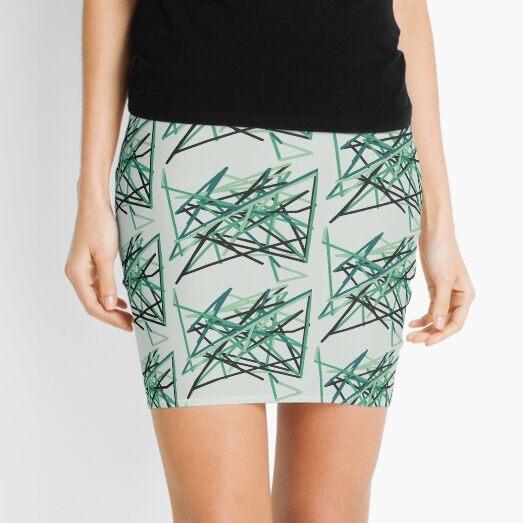 Green Zigzag Mini Skirt
