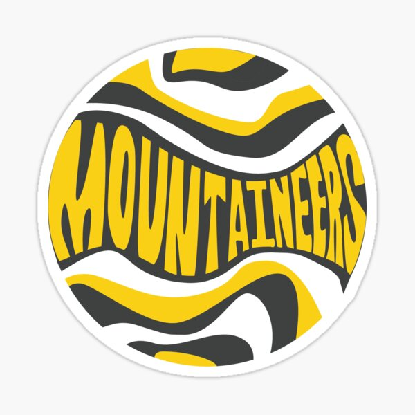 ASU Mountaineers Retro Circle Sticker